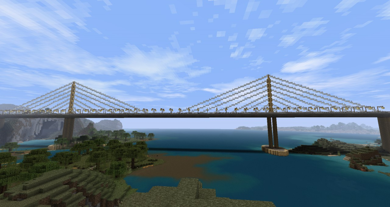 Cable Stayed bridge based on the Sunshine Skyway Bridge spanning Tampa Bay, FL 1:2 scale