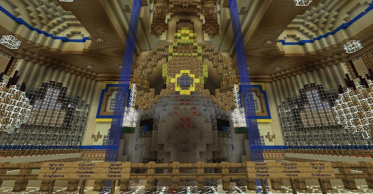 Ganesha's head statue, interior