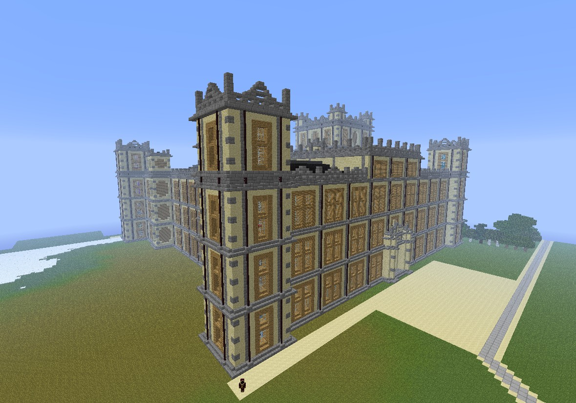 Downton Abbey Highclere Castle Minecraft Project