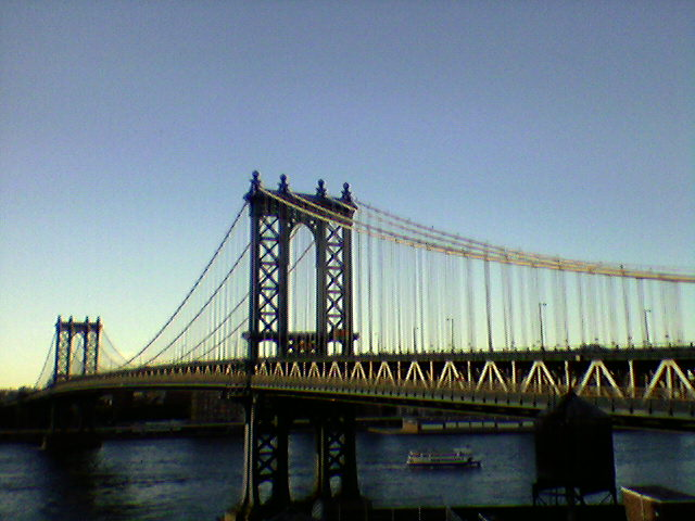 The real Manhattan Bridge in New York, NY