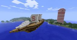Big Ship! With working LightHouse! Minecraft Map & Project