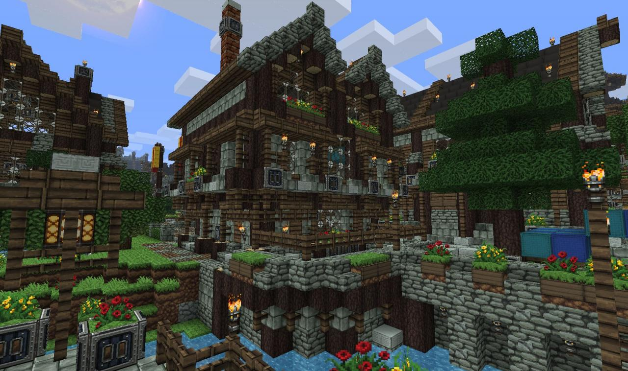 Small medieval house mittelalterliches haus minecraft project