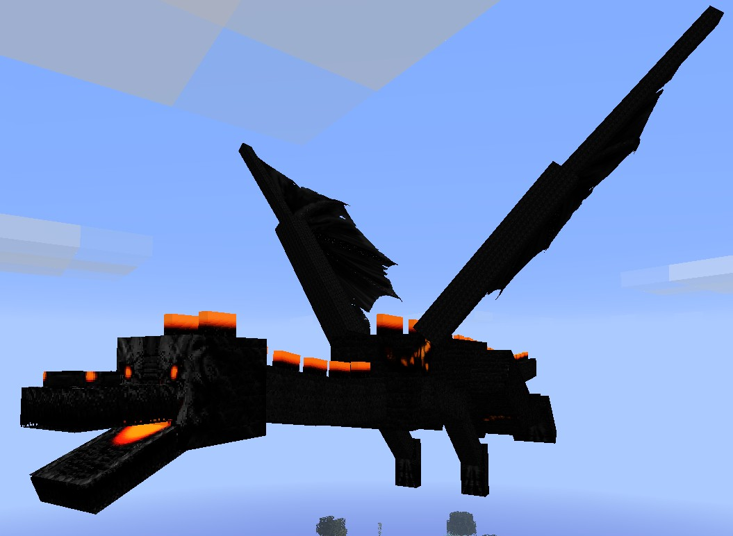 how to build a realistic dragon in minecraft