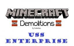 Minecraft Demolitions: USS Enterprise by Mozzie Minecraft Blog