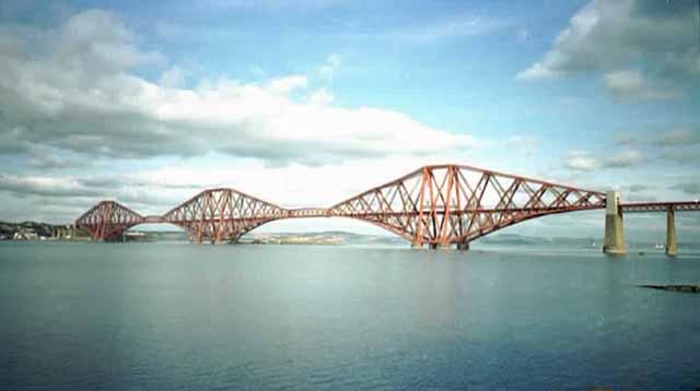 The real Forth Rail Bridge in Scotland.