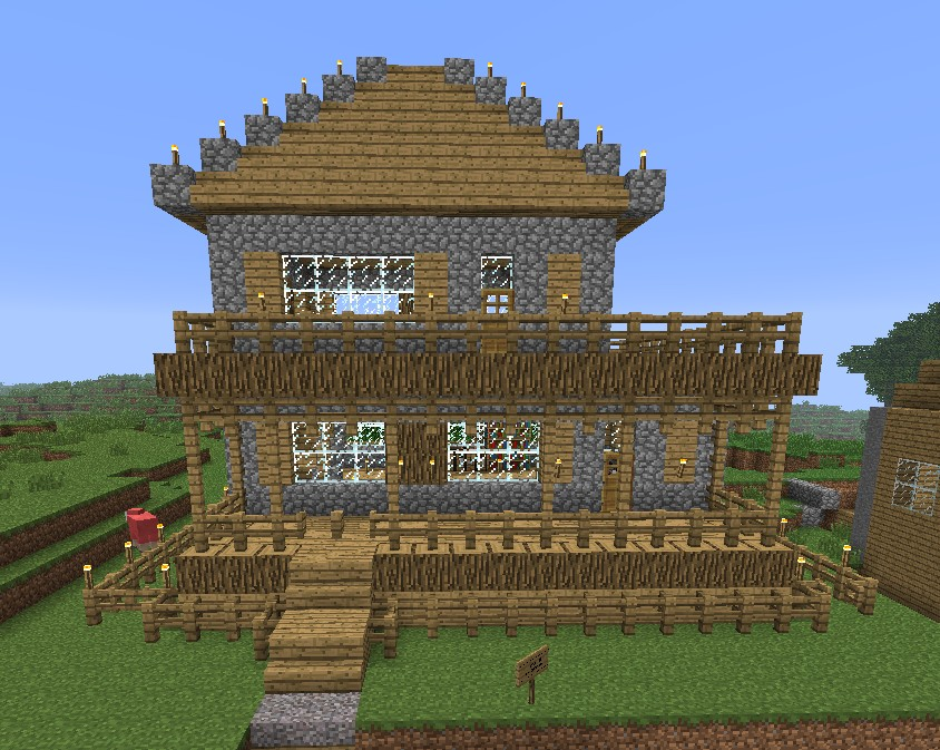 gallery for minecraft simple house plans