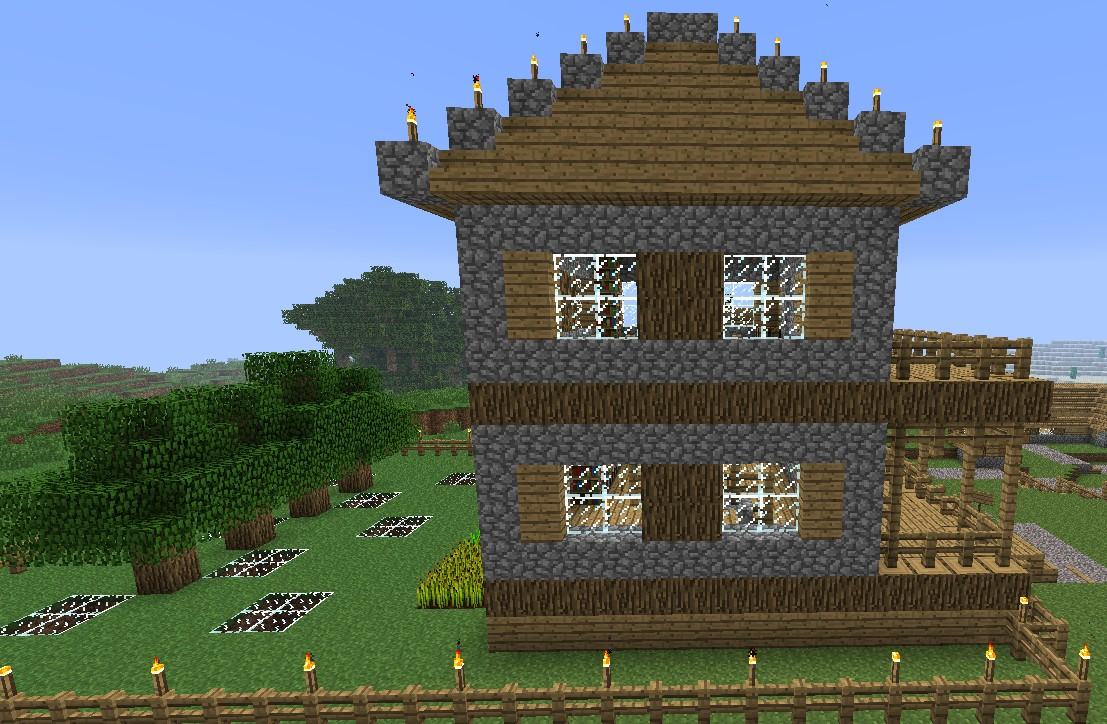 Simple all in one house minecraft project for Minimalist house minecraft