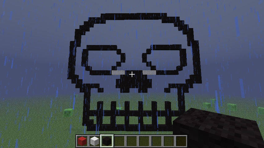Pixel Art #17 = Invisible Skull Minecraft Project