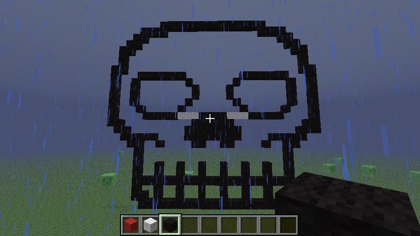 Pixel Art #17 = Invisible Skull