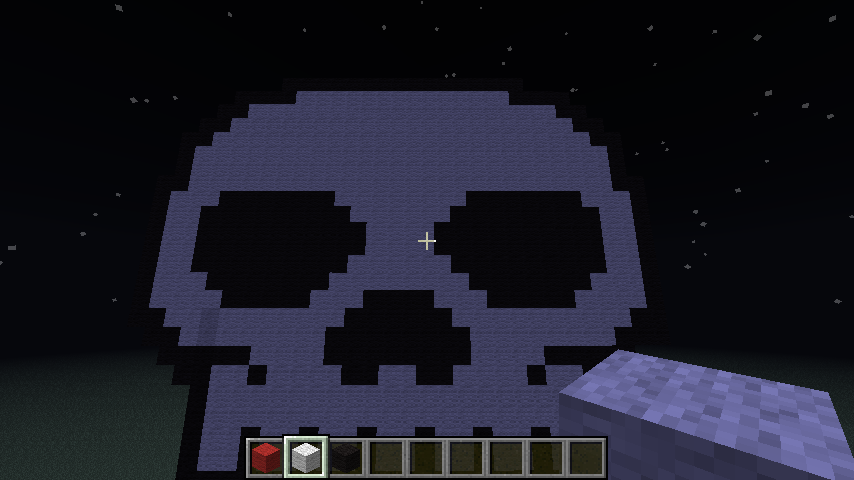 Pixel Art #18 = Skull Minecraft Project