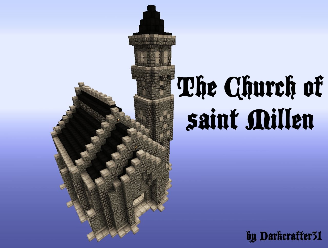 Medieval series the church of saint millen minecraft project
