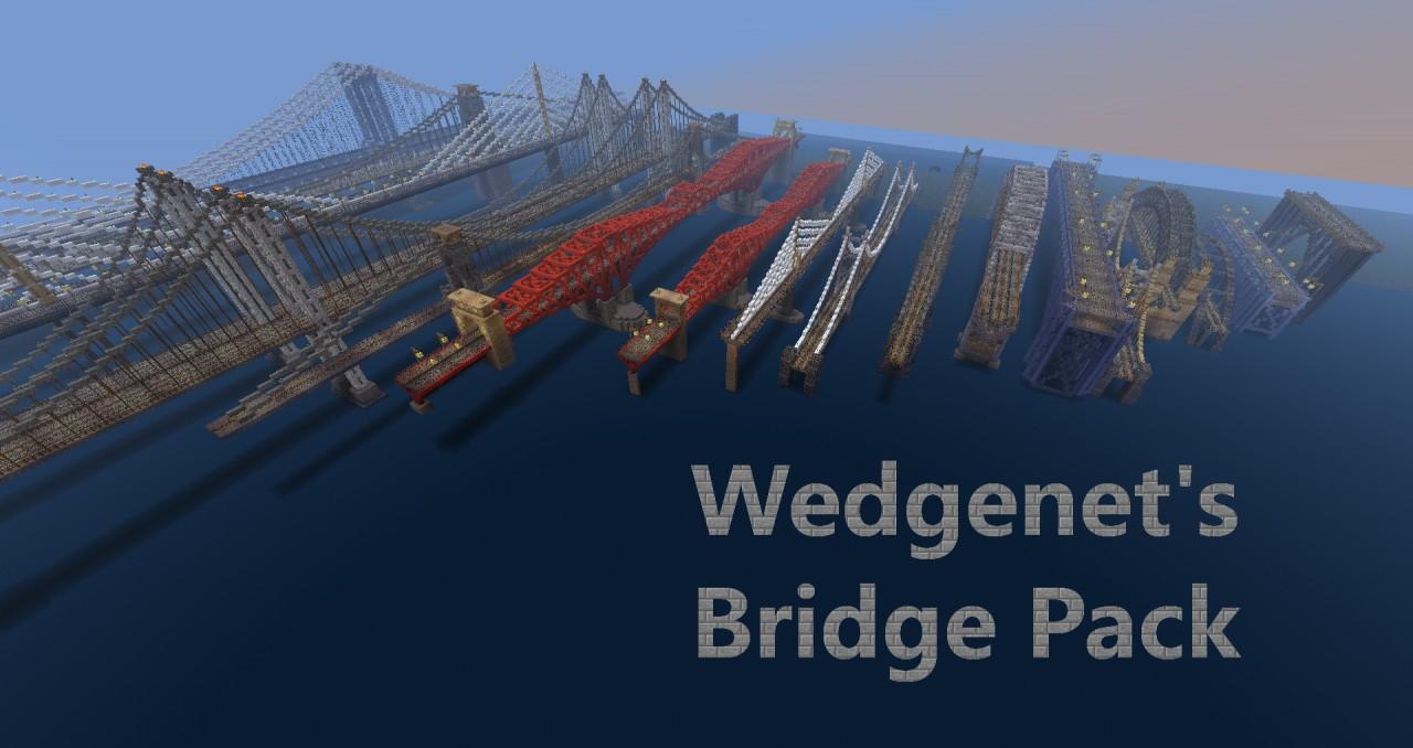 Minecraft Japanese Bridge wedgenet's bridge pack minecraft project