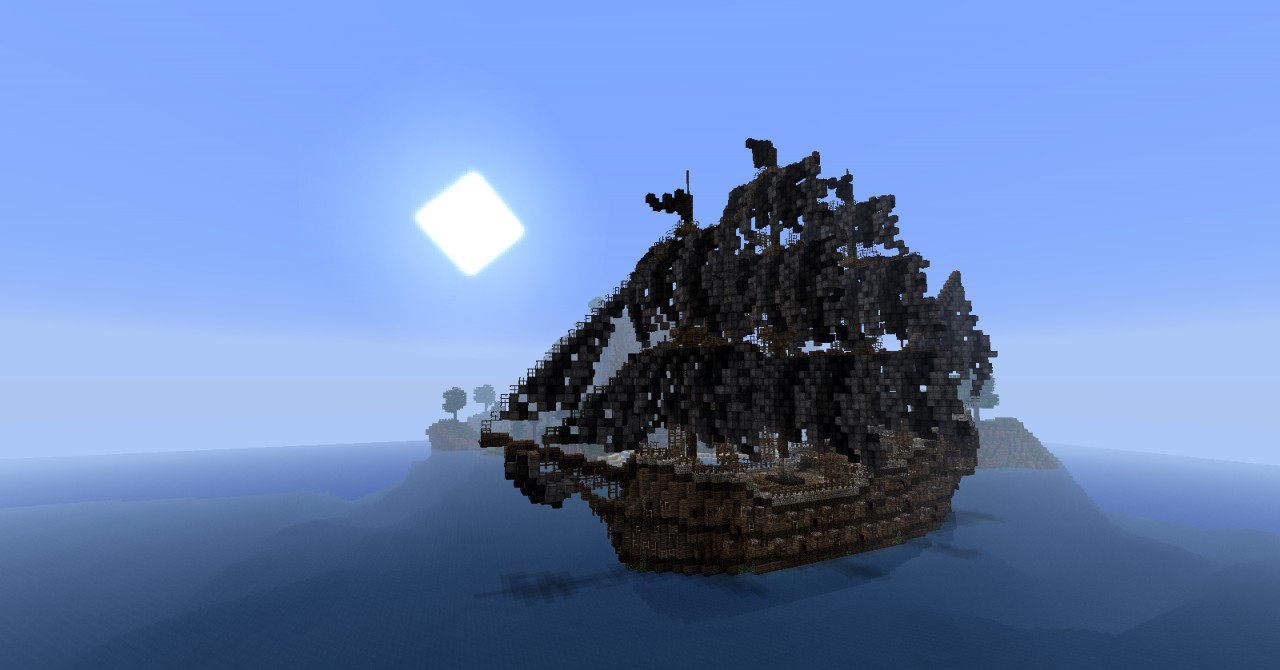 how to make a pirate ship in minecraft that moves