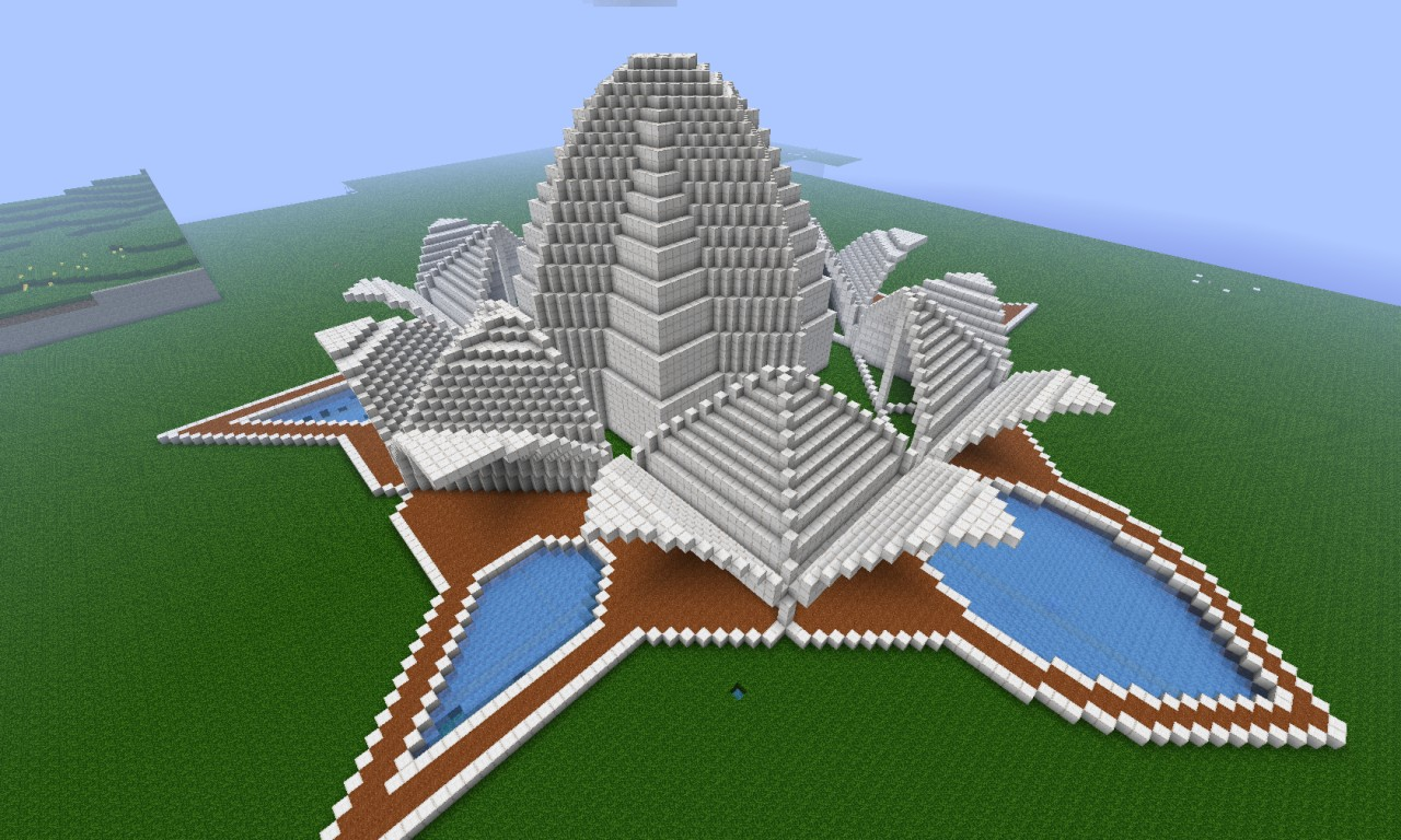 Megabuild The Lotus Temple Minecraft Project