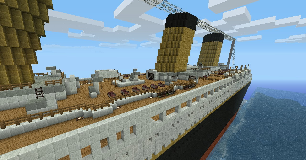 R M S Titanic 100th Year Commemoration Minecraft Project