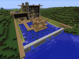 Japanese Modern on the River Minecraft Map & Project