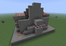 Redstone series- Flat hidden piston doorway Minecraft Map & Project