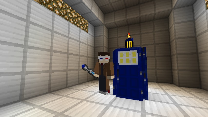 The Doctor and his TARDIS. (Skin is not mine)