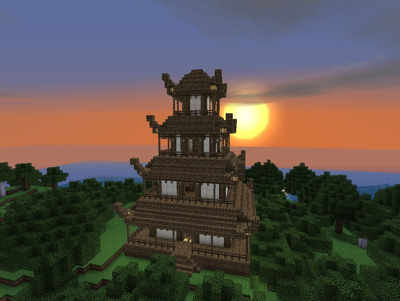 Japanese Pagoda Minecraft Project
