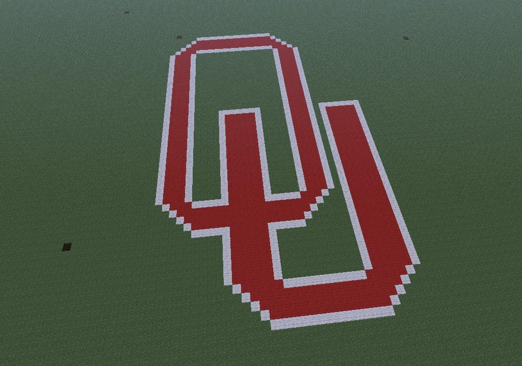 Oklahoma Sooners Logo Minecraft Project