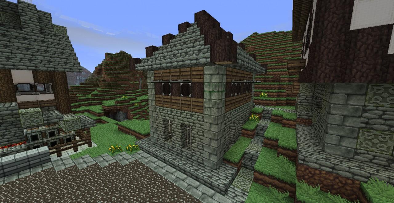 Small medieval village Minecraft Map