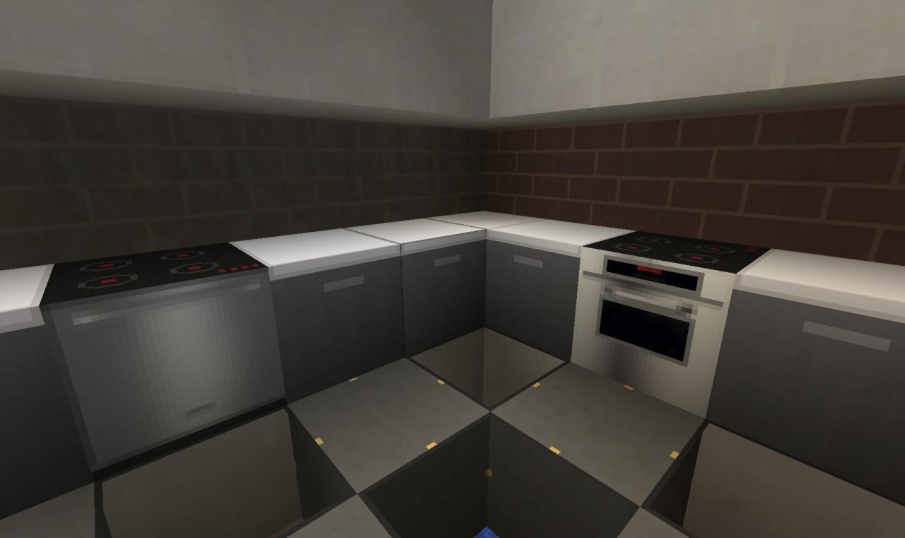 Minimalist styled kitchen & appliances (oven & dishwasher)