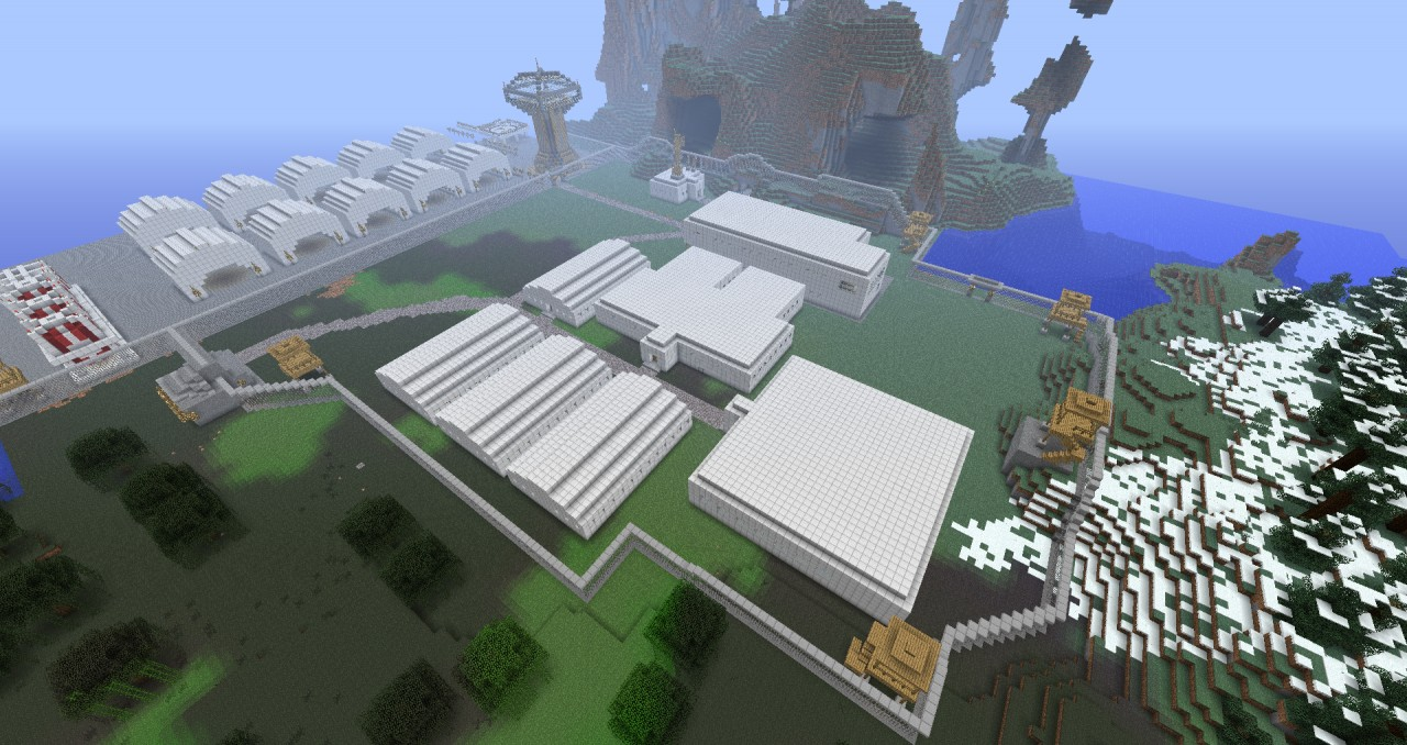how to make a military base in minecraft pe