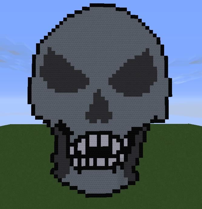 Skeletron (pixel art) Minecraft Project