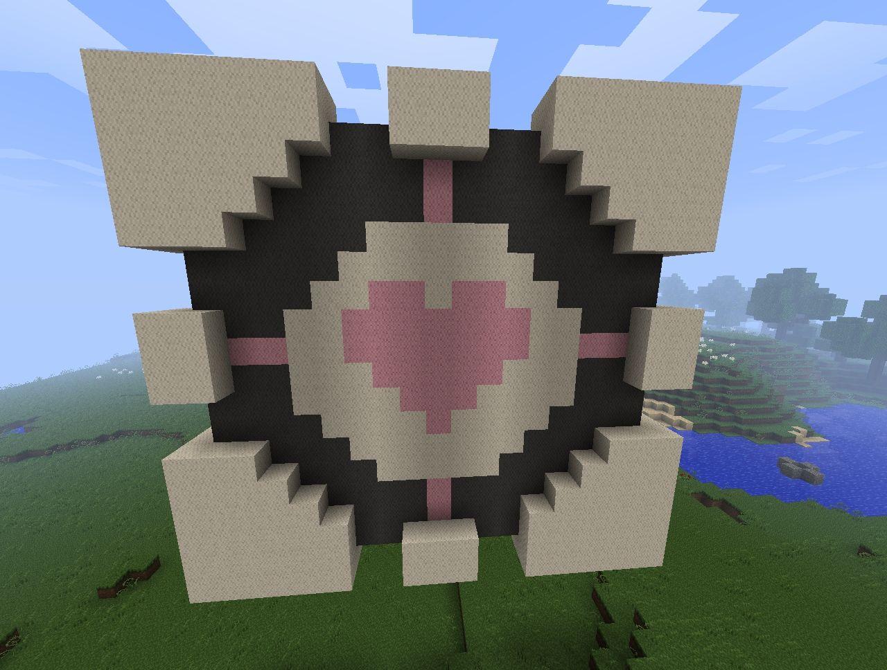 companion cube pixel art minecraft project
