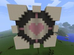 Companion cube Pixel art Minecraft Map & Project