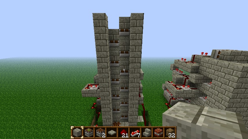 Working Minecraft Piston Elevator With Mc Edit And And
