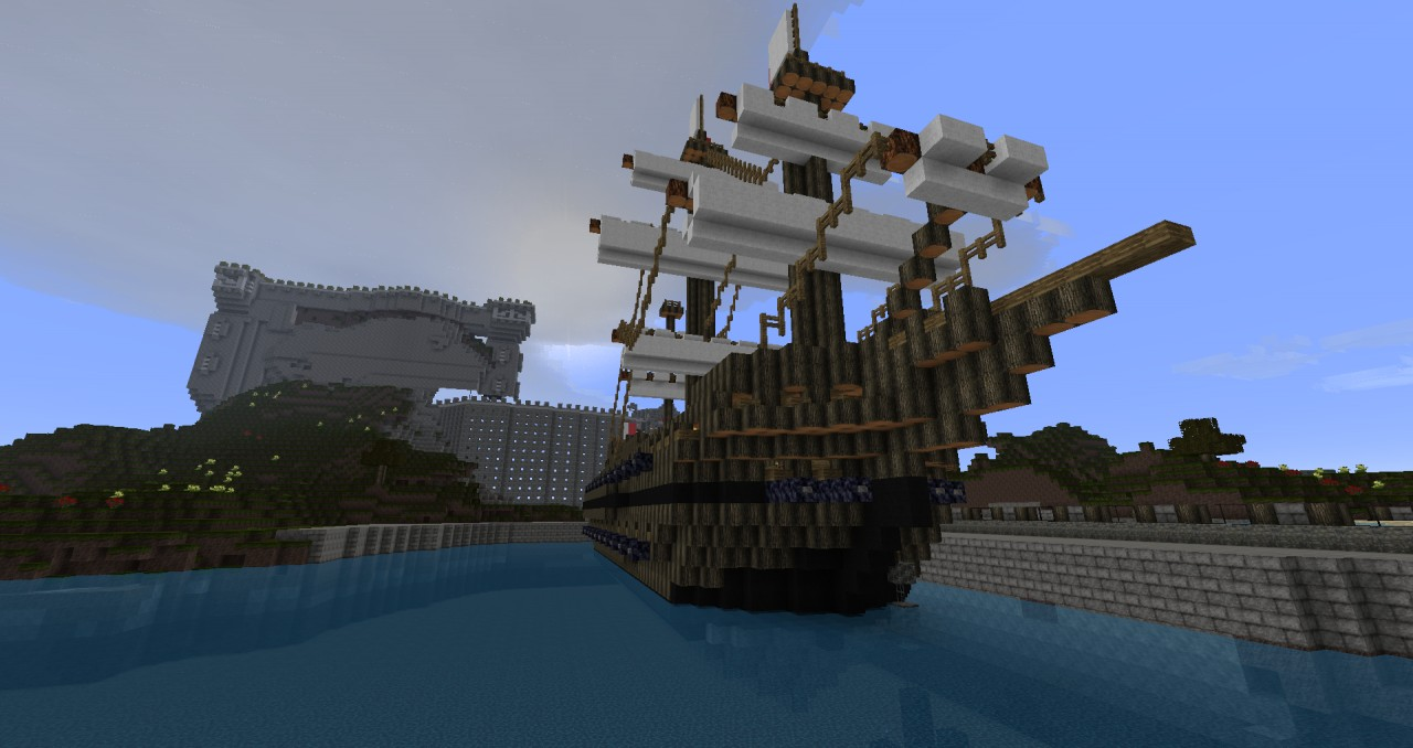 galleon defians trading ship minecraft project
