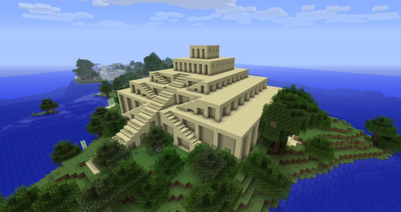 Ziggurat In Progress Minecraft Project