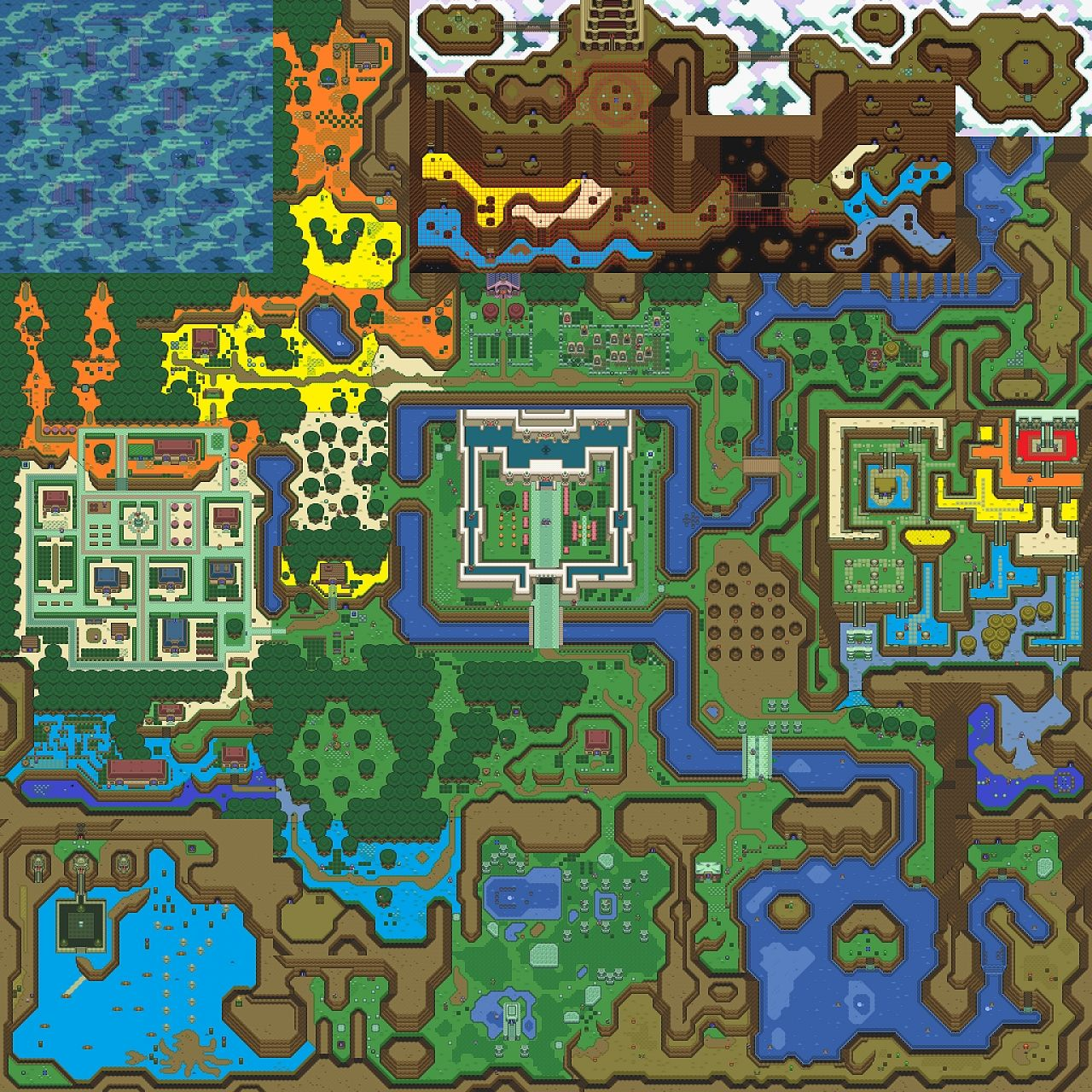 Zelda link to the past snes light world minecraft project height map publicscrutiny Image collections