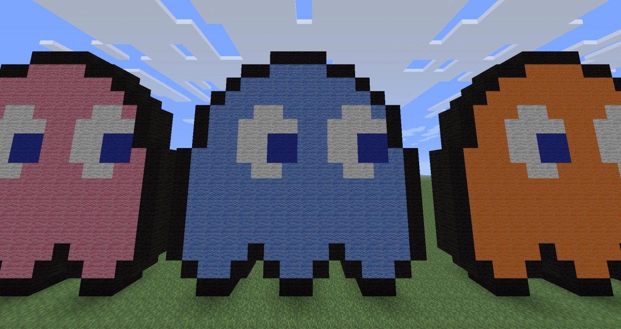 pac man minecraft how to build