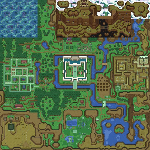 The Legend Of Zelda A Link To The Past Map Minecraft,Legend ...