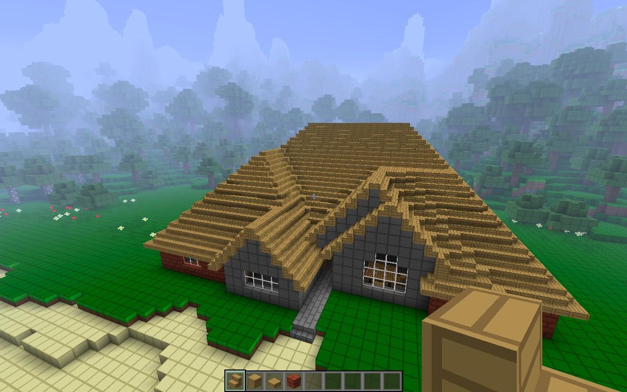 Kitchen Tv Ideas Realistic House Roof Finished Kurow Island Minecraft