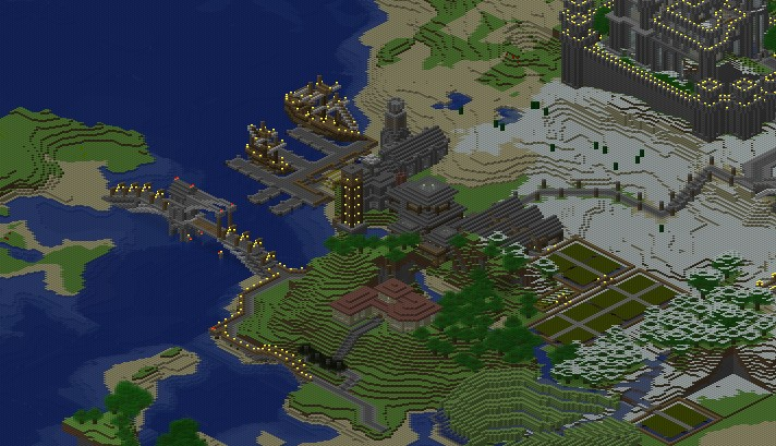 The Fishing Village Minecraft Project