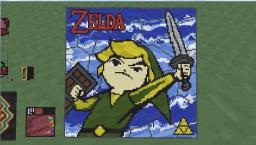 zelda link pixel art 110 x110 Minecraft Map & Project