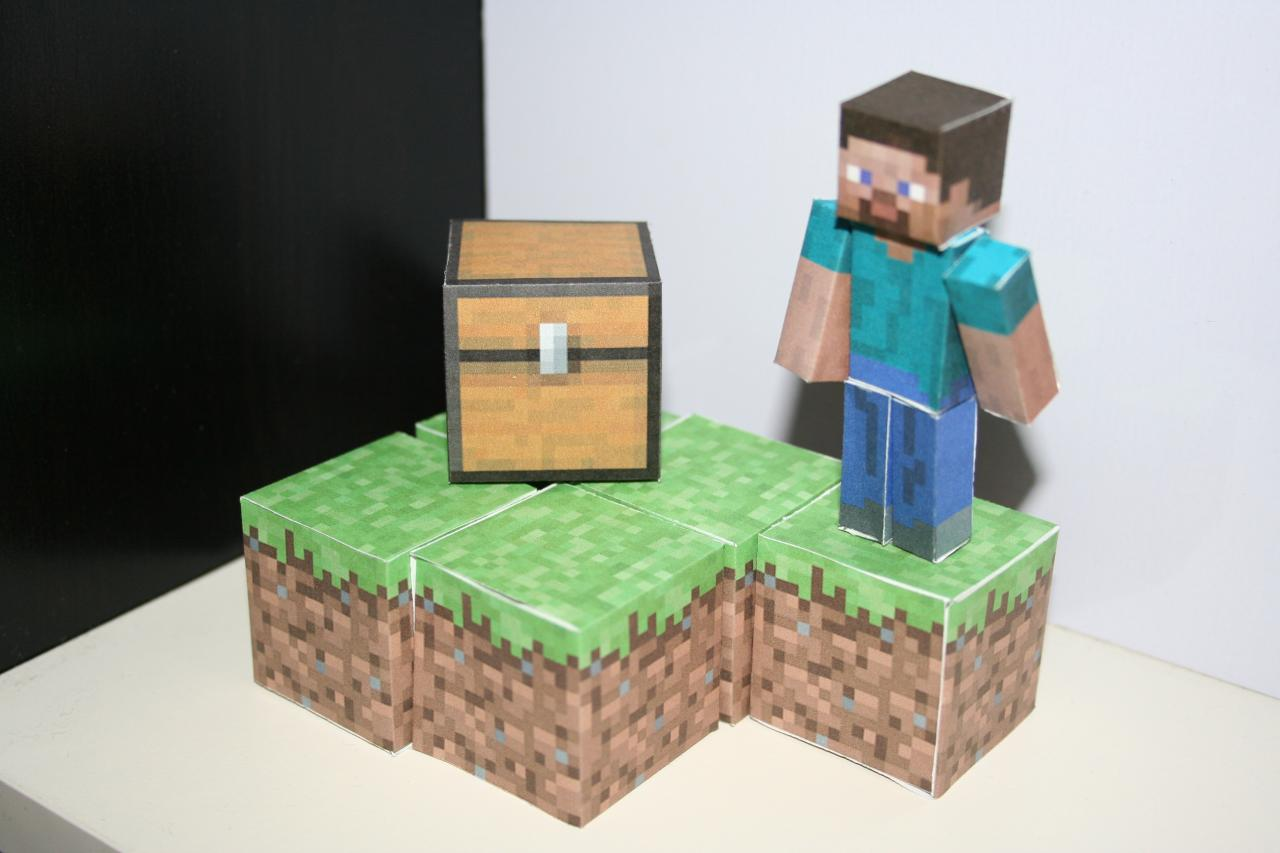 Papercraft minecraft project for Paper craft home