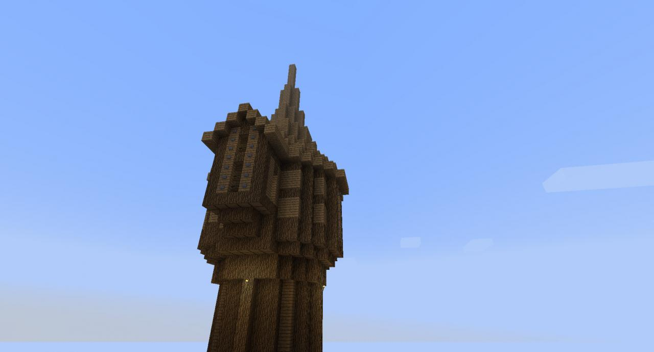 Simple Tower Wooden Minecraft Project