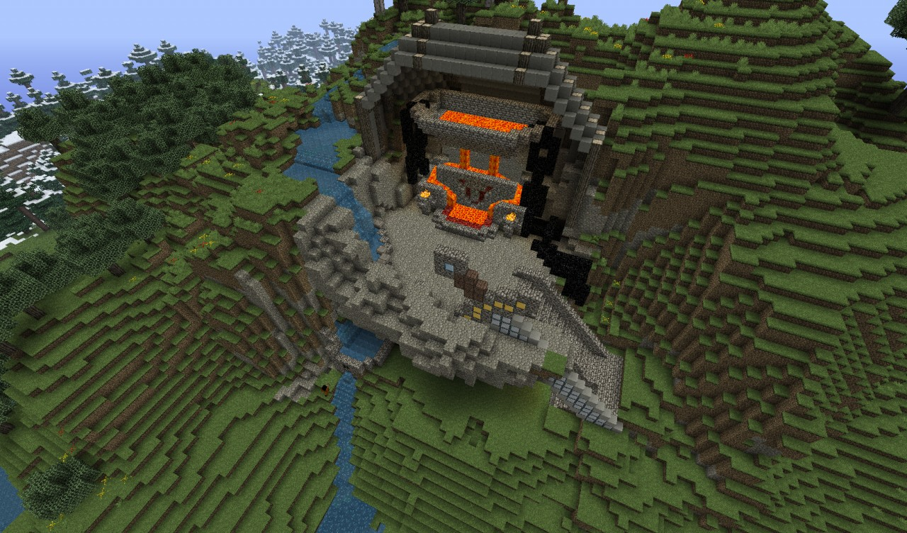 how to build a blacksmith forge minecraft