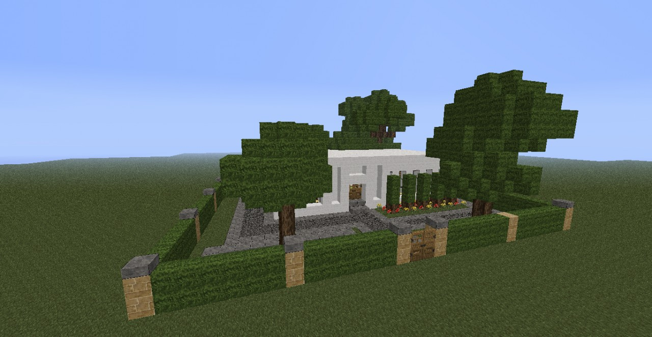 house from the front. Simple Modern House Minecraft Project