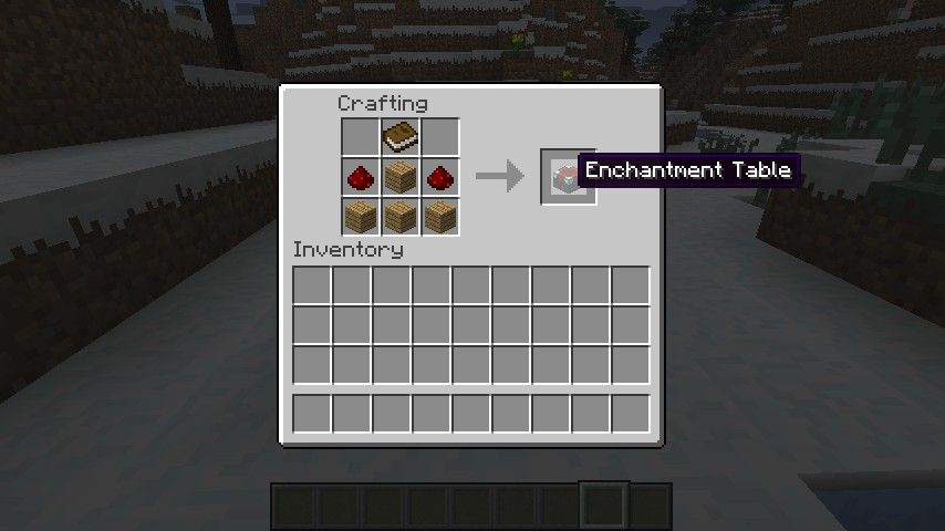Easy enchanting table 1 1 by blockscraft minecraft mod for How to draw a crafting table
