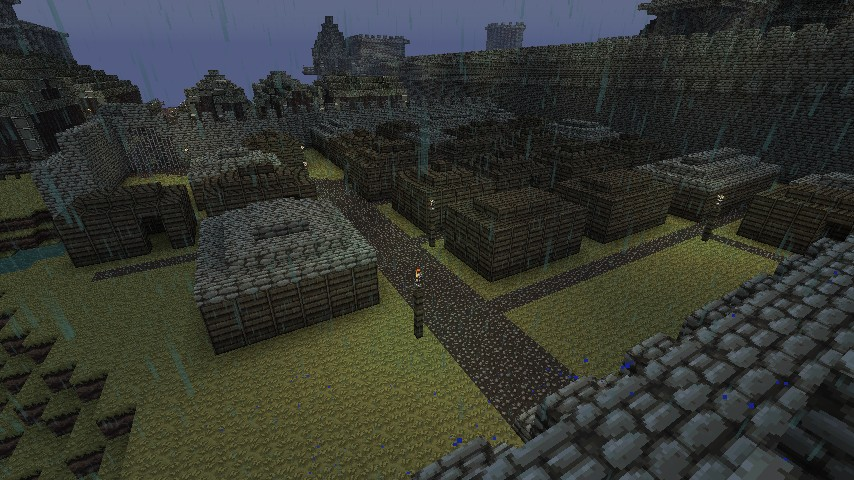 Slums next to the harbor