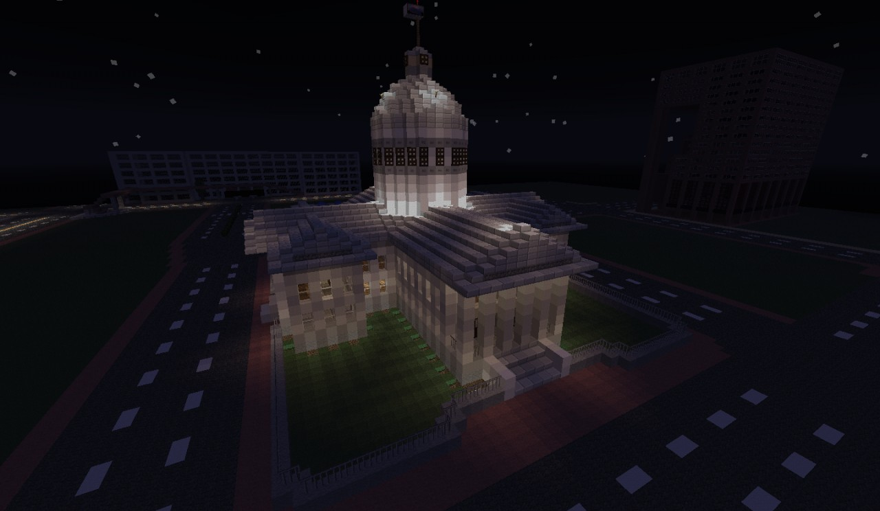 Capitol Building at night with lighting