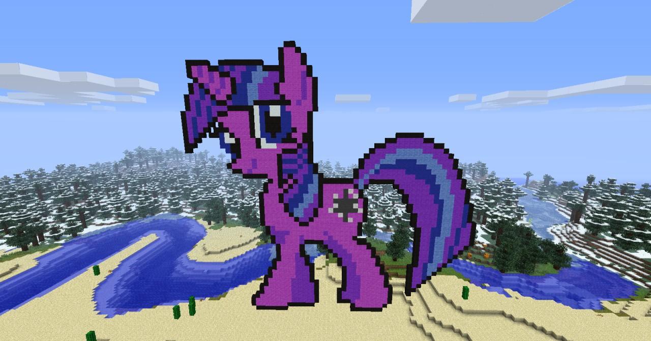 My Little Pony Twilight Sparkle Minecraft Project