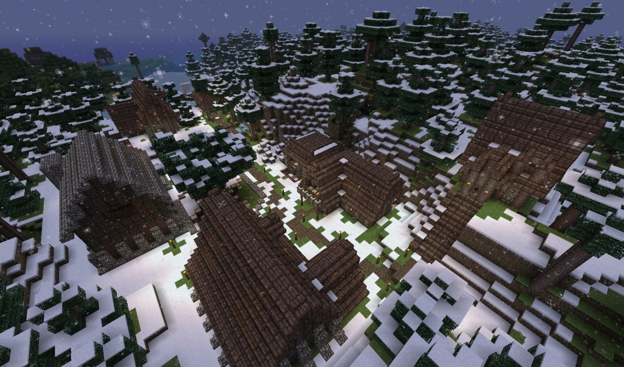 My servers small snow village Minecraft Project on