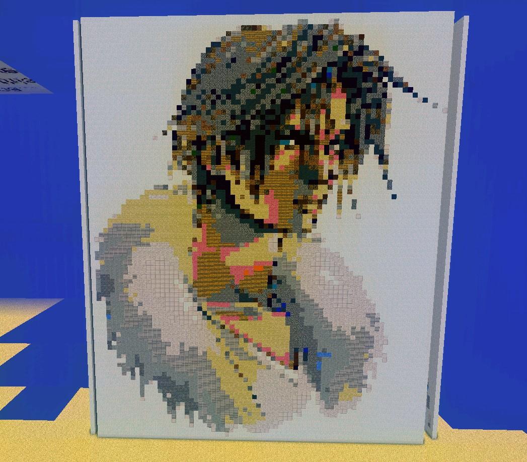 Final Fantasy VIII - Squall Pixel Art Minecraft Project