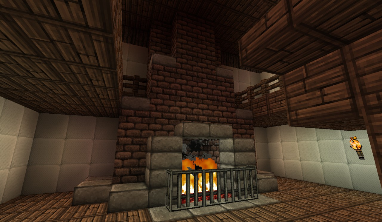 minecraft medieval fireplace related keywords